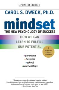 Mindset book cover - discussing growth mindset vs fixed mindset.