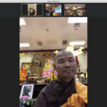 Monks offering the Five Mindfulness Trainings virtually via zoom